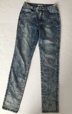Almost Famous Crave Fame Juniors 9 Acid Washed Jeans Dot High Rise Skinny #W42