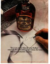 1974 Chivas Regal Blended Scotch Whisky Thank You Letter To Dad Gift Print Ad
