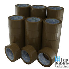 Premium Brown Packaging Tape 48mm x 75m Rubber - 36 Rolls SYDNEY FREE SHIPPING