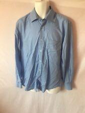 Men's HUGO BOSS Blue Solid Long Sleeve Button Dress Shirt Sz 16.5