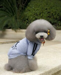 2 Leg Pet Dog Clothes Cat Puppy Coat Hooded Hoodies Warm Sweater Jacket Clothing