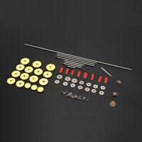 6 pcs Different Flute Repair Parts Screws,Parts + Closed Holes Flute Pads