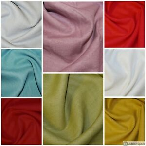 100% Pure  Enzyme Washed Natural Linen Flax 230gsm 136cm Wide per 1/2 meter