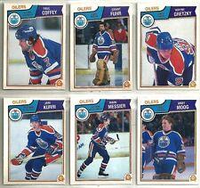 1983-84 O-Pee-Chee Hockey 21-card Edmonton Oilers Team Set  Wayne Gretzky