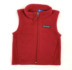 Columbia Red fleece Vest infant baby 3-6 months New With Tag