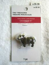 Celebrate It Tiny Treasures Rustic Garden Brown Bull / Ox Miniature - Nip