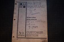 Hyster E30 E35 E40cr Electric Forklift Parts Manual Book Catalog List Shop 1989