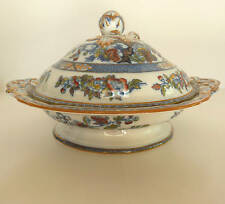 Antique China- Minton-Blue Indian Tree-Transfer ware- Covered Bowl Tureen 1890's