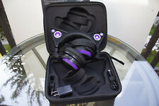 NEW Brookstone Axent Wear Wired Cat Ear Headphones Purple with Carrying Case