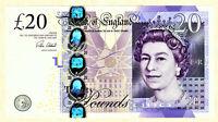 GREAT BRITAIN 20 POUNDS UNC BANKNOTE - 2015 - PICK #392c CLELAND sign. --- [116]