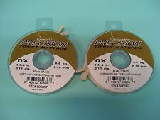 2 Cortland Precision Tippet Material Fly Fishing Line 0X / 30 Yds / 14.4 Lb
