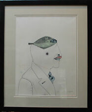 Paul Wunderlich Original Lithograph Hand Signed Numbered Fischkopf 1997