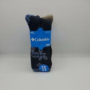 Men's Columbia Wool Blend Crew Socks 4-Pack (Shoe Size 6-12) Moose/Plaid