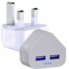 White 2000mAh High Speed Dual Charger For Apple / Samsung / Nokia / Sony