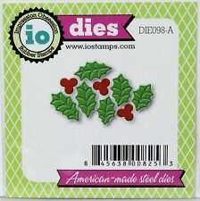 """""""FREE SHIPPING"""" Impression Obsession HOLLY LEAF CLUSTER Die DIE098-A  IO Stamps"""