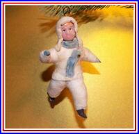 1960 Vintage décorations de sapin de Noël, la Poupée, le Coton, l'URSS #19111613