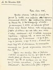 François MITTERRAND / Lettre autographe signée de jeunesse. 1938