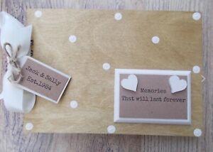 Personalised Memories Wooden Scrapbook Photo Album Guest Book Gift