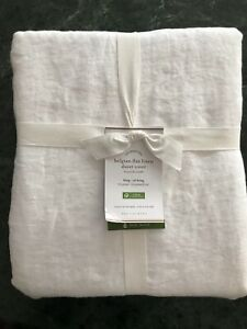 Pottery Barn BELGIAN FLAX LINEN DUVET COVER, Full.Queen, New  W/$279.00 tag