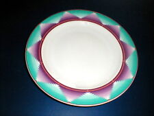 Furio China Aqua Purple Geometric Design Dinner Plate/s (loc-67F)