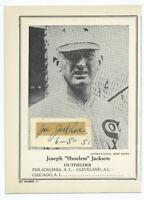 SHOELESS JOE JACKSON 1946-49 Sports Exchange oversized🔥Signed Mrs Jackson🔥JSA