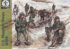 WATERLOO 1815 AP031 WWII US Mountain Troops Figuren in 1:72