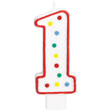 """Extra Large Amscan Birthday Party Perfect Candle #1  Number 5"""" Wax 1st"""