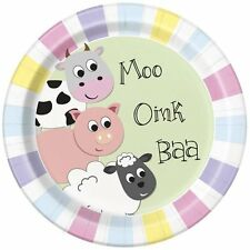 Pastel Farm Party Supplies, farm napkins, table cover, cups, plates, banners