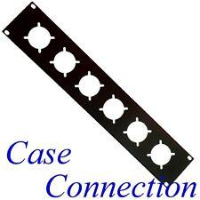 2he rackblende - 6x Schuko-acero-bordeada-negro # rack panel