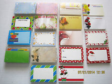 Enclosure Cards Happy Bday, Love You, Happy Anniversary, Baby & more 25Pk w/Env