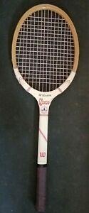 Vintage Wilson Sport Wooden Tennis Racket Made in Belgium Nice Condition