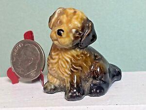Vintage Wade  Spaniel Puppy Dog Porcelain Miniature Dollhouse 1:12 England