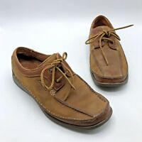 Clarks 35512 Men Brown Leather Lace Up Oxford Shoe Size 9.5M Pre Owned