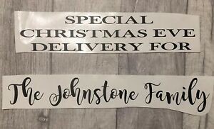 Personalised Christmas Eve Box Crate Vinyl Decal Xmas Family Any Name Sticker