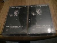 The Greatest Hits (1966-1992) by Neil Diamond Cassette Tape Tape 1 and Tape 2