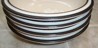 SET OF 4 DENBY  MADRIGAL SOUP / CEREAL BOWLS about 7 1/2 inches  across the top