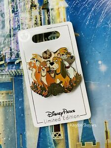 2021 Disney Parks The Fox And The Hound 40th Anniversary LE 2000 Pin New