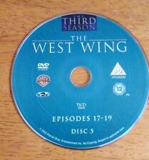 West Wing DVD Season 3 Three Disc 5 Episodes 17-19 disc only replacement