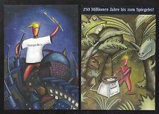 Ciudad obras Hannover AG, 2 tarjetas postales energía & co., no corriendo