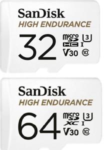 Sandisk 32GB 64GB Micro SD High Endurance 4K U3 Memory Card For Dash Cam