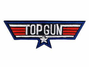 RETRO TOP GUN PATCH film collectors embroidered cotton iron on badge US Airforce