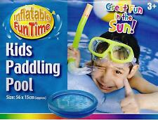 Baby Kids Paddling Pool 2 Ring Small 56cm Inflatable Home Garden Holiday Fun NEW