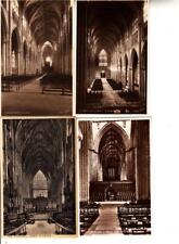 Z206.Vintage Postcards x 4. Interior Views of  York Minster.