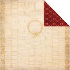BoBunny 12x12 Scrapbooking paper, Heritage Collection, Keys x 2 sheets