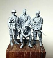 1/35 scale resin model figures kit  WW2 American Soldiers (4 Figures)