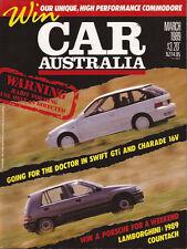 CAR MAR 1989 SVO GHIA Alfa 164 LTD 2CV Swift GTi Charade 16V   NB: PLEASE NOTE T