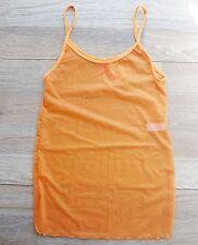 Maradentro Colombian Swimwear Orange Mesh Stretch S Mini Dress Cover-Up New