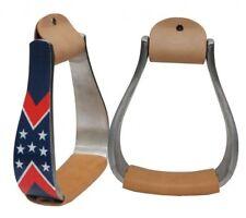 Showman Aluminum Stirrups w/ Reflective Stars & Stripes Design! NEW HORSE TACK!!