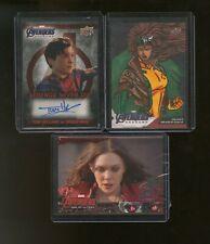 Lot Of (3) Upper Deck Marvel Avengers w/ AUTO