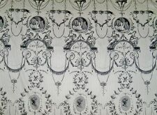 PIERRE FREY ROMANEX DE BOUSSAC FRENCH NEOCLASSICAL TOILE FABRIC 8 YARDS WHITE